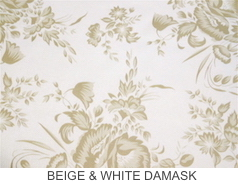 Beige & White Damask - Prices Starting At $24.99 & Up